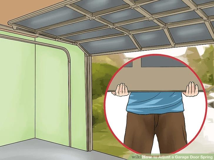 HOW TO ADJUST GARAGE DOOR RELEASE SPRING'S TENSION