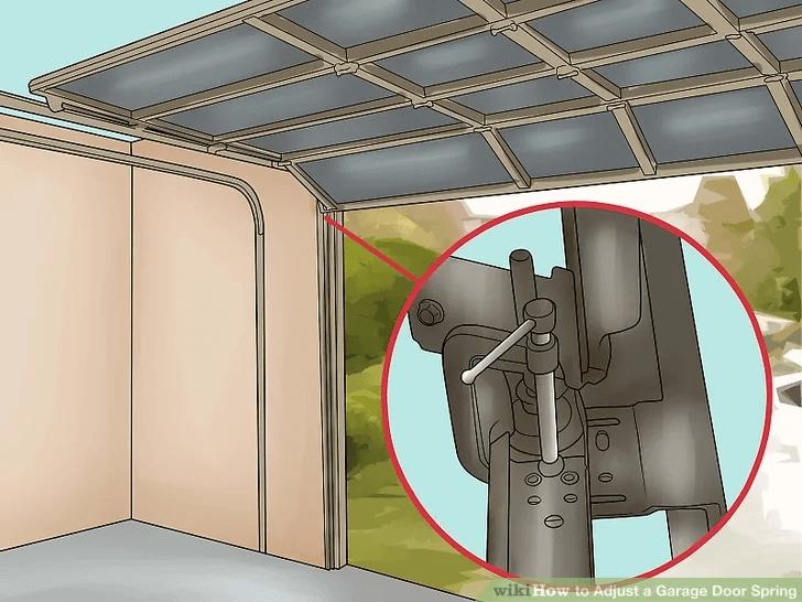 HOW TO ADJUST GARAGE DOOR SECURE THE DOOR IN PLACE