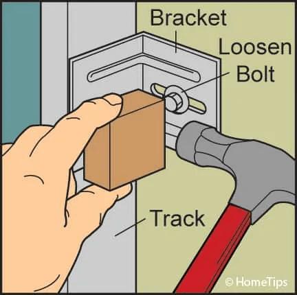 HOW TO ADJUST GARAGE DOOR check the bolt