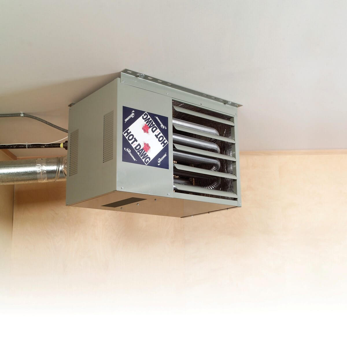 HOW TO HEAT A GARAGE WITH INSTALL FORCED AIR HEATER