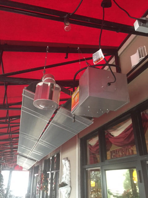 Install A Low-intensity Infrared Tube Heater