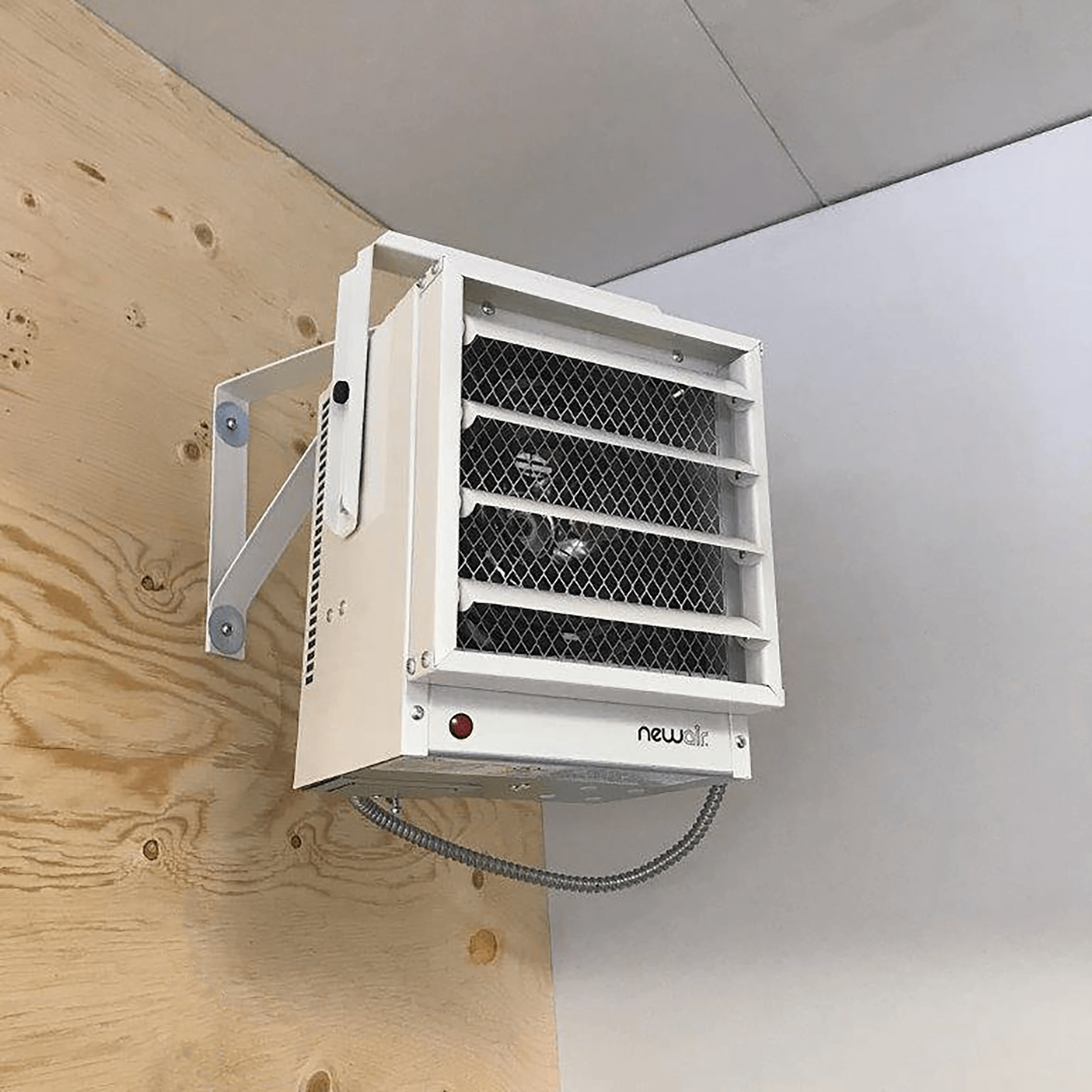 Mounted Electric Heater to Safe Space