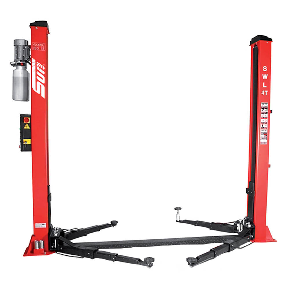 ASYMMETRIC TWO POST VEHICLE LIFT FOR HOME GARAGE