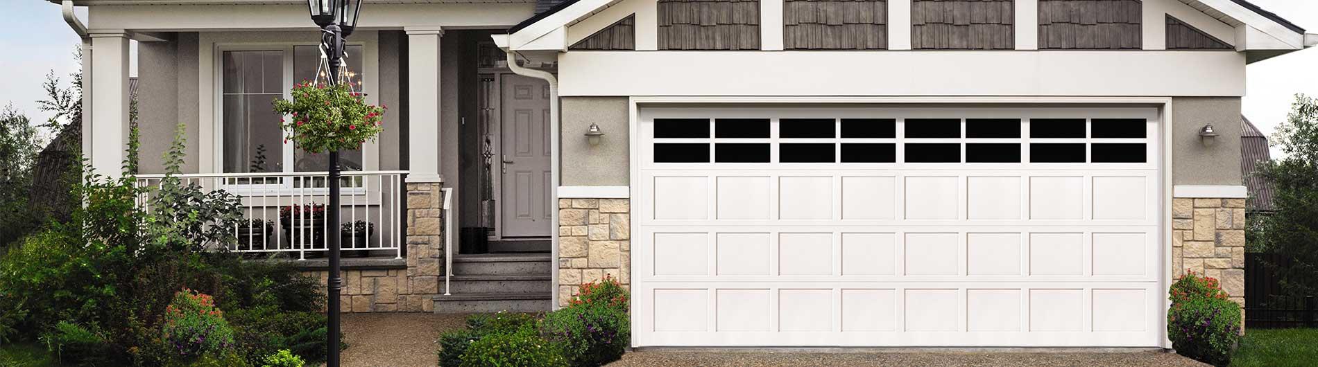 CUSTOM WOOD WHITE GARAGE DOOR