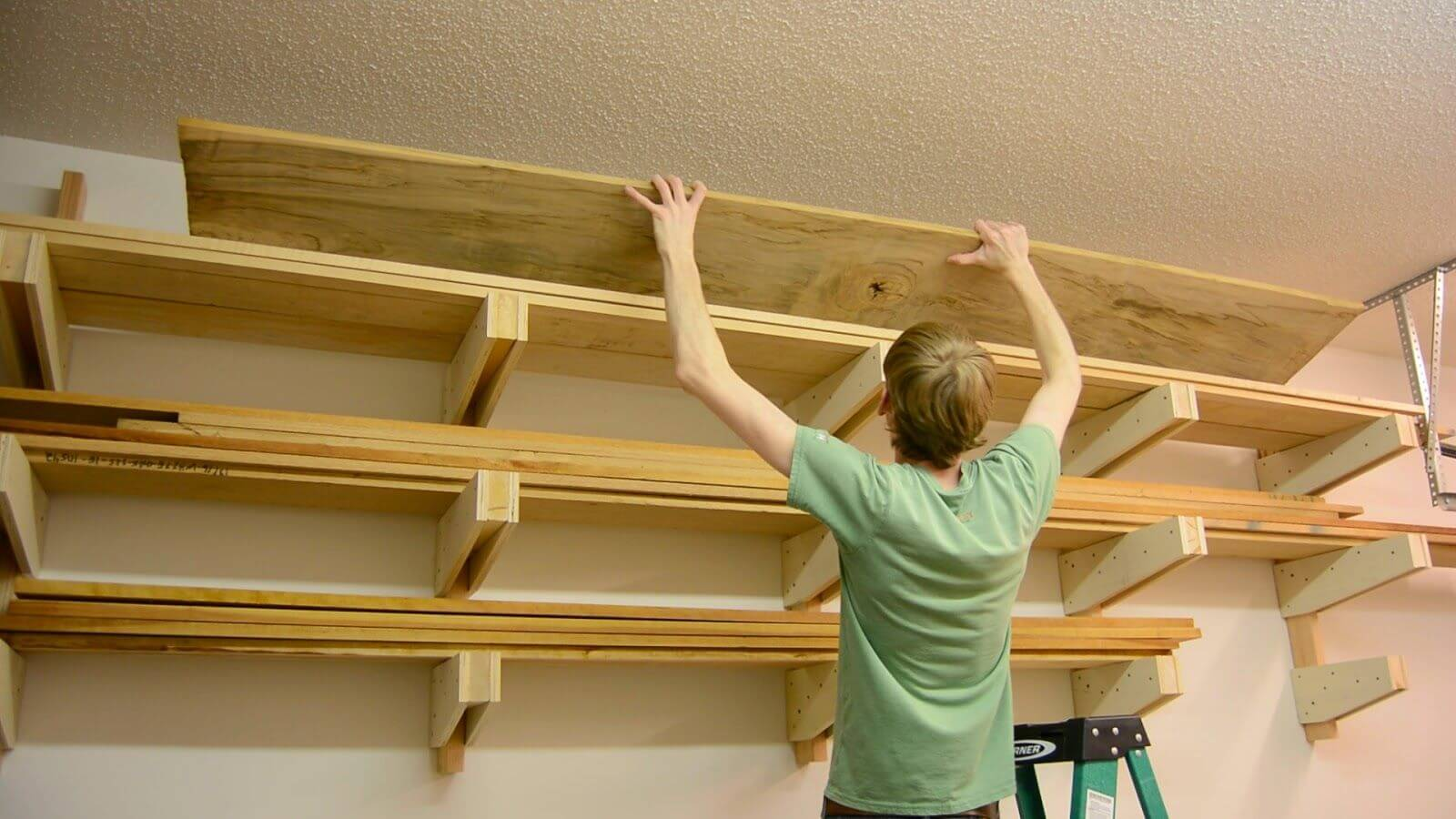 HOW TO BUILD WALL MOUNTED GARAGE SHELVES. 1. GRAB THE SUPPLIES
