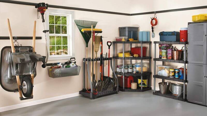 RUBBERMAID DELUXE TOOL TOWER GARAGE STORAGE SYSTEM