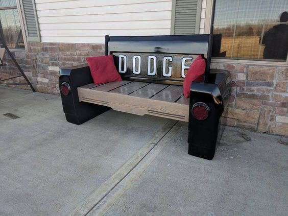 CAR GARAGE DECORATING IDEAS WITH BENCH