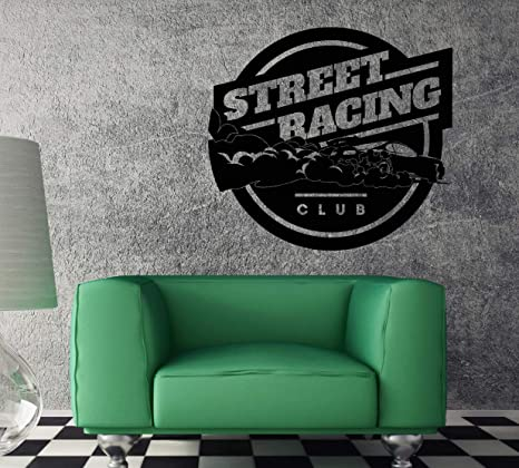 CAR GARAGE DECORATING IDEAS WITH WALL DECALS