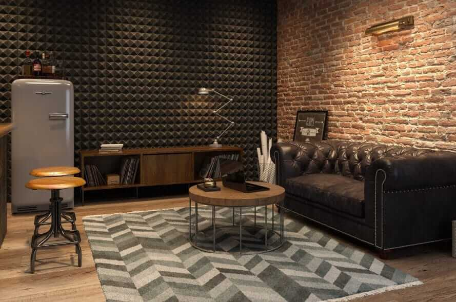 CARPETS OR RUGS FOR GARAGE MAN CAVE FURNITURE IDEAS