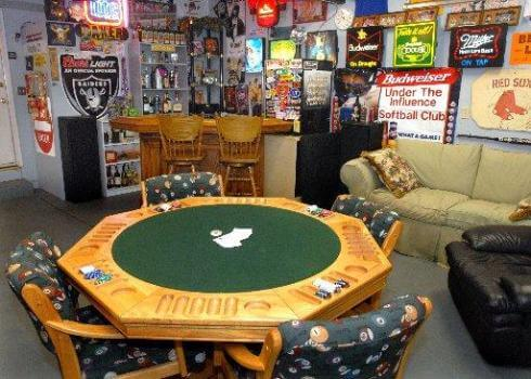 GAMBLING TABLES GARAGE MAN CAVE FURNITURE IDEAS