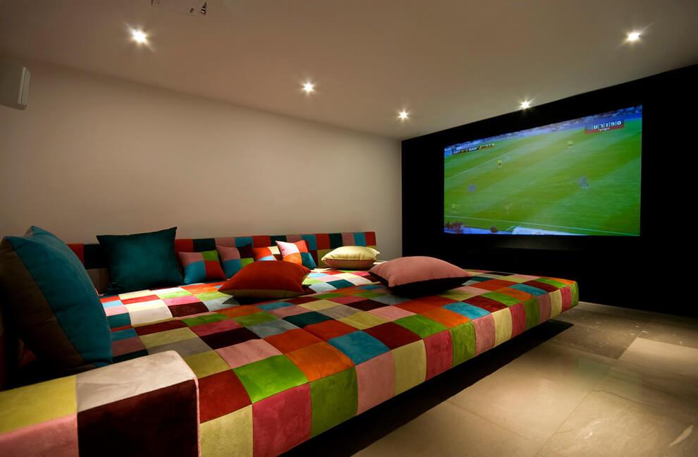 INSPIRING IDEAS FOR BONUS ROOMS ABOVE GARAGE WITH HOME CINEMA