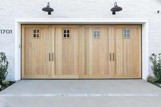 OUTSIDE GARAGE DECORATING IDEAS WITH CUSTOM HARDWARE