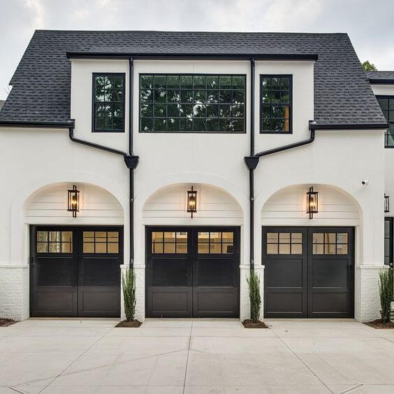 THE PIPING OUTSIDE GARAGE DECORATING IDEAS